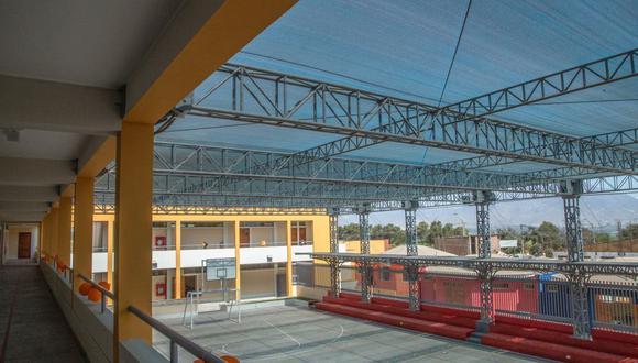 La I.E. San Idelfonso fue construido por Ferreyros con una inversión de más de S/ 5 millones, a través de la modalidad de OxI. (Foto: Difusión)