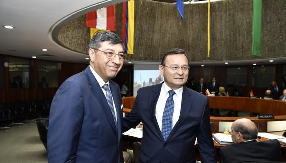 El canciller Néstor Popolizio saludó que la posición oficial de la OEA coincida con la del Grupo de Lima. (Foto: Cancillería Peruana)