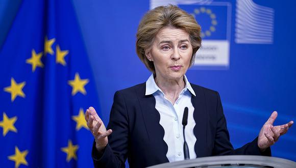 La presidenta de la Comisión Europea, Ursula von der Leyen, impulsora de la iniciativa, anunció una nueva contribución comunitaria de 4,900 millones de euros a través del Banco Europeo de Inversiones. (Foto: AFP)