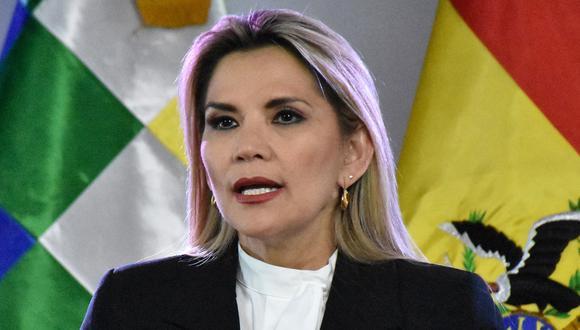 Jeanine Áñez anunció que retira su candidatura para las elecciones presidenciales. (Foto: AFP).