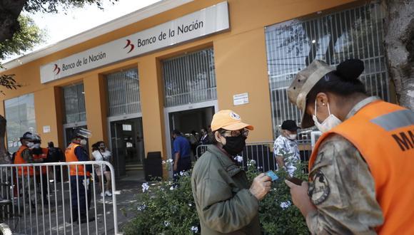 El pago de la primera etapa en agencias del Banco de la Nación se inició el pasado 29 de marzo, mientras que la segunda etapa comenzará el próximo 7 de mayo. (FOTO: GEC)