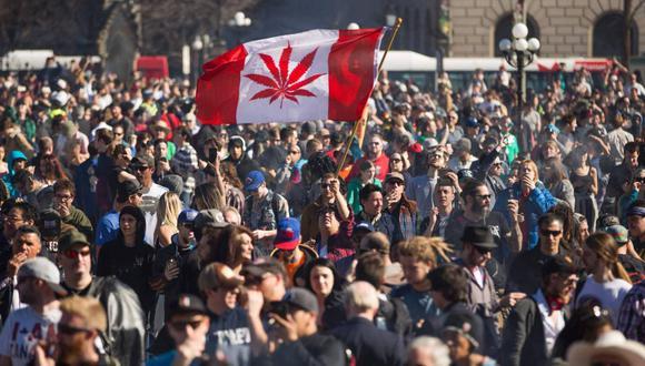 Canadá es el primer país industrializado del mundo en legalizar el consumo de marihuana recreacional. (Foto: AFP)
