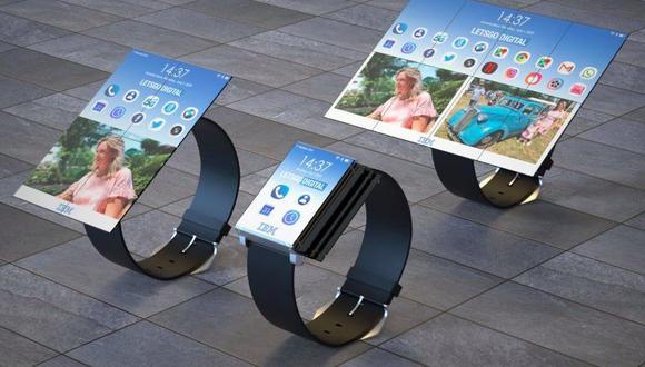 La patente de IBM establece que podría tener 4 paneles, obteniendo una pantalla de smartphone o 8 paneles, dando una pantalla como una tablet.