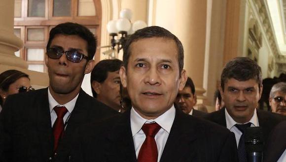 Ollanta Humala y Santiago Gastañadui (Fuente: Congreso de la República)