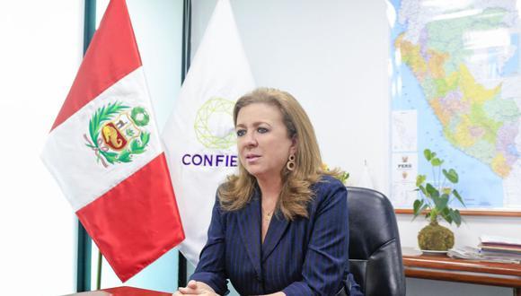 María Isabel León, presidenta de Confiep. (Foto: Difusión)