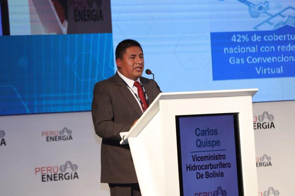 Carlos Quispe, viceministro de Desarrollo Hidrocarburífero de Bolivia, participó del foro Perú Energía 2019.