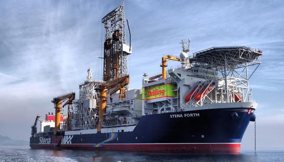 El barco de perforación Stena Forth llevó a cabo la primera perforación en aguas profundas del Perú.