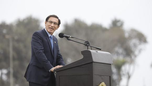 Martín Vizcarra aseguró que hay fuerzas que quieren afectar la democracia. (Foto: Presidencia.)
