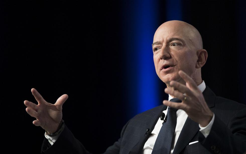 1. Jeff Bezos. Valor neto: US$ 189,000 millones. Ganancia desde la elección del 2016: +US$ 121,000 millones. (Foto: AFP)