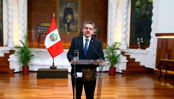 Manuel Merino reaparece en sesión del pleno del Congreso de este miércoles. (Foto: Presidencia)