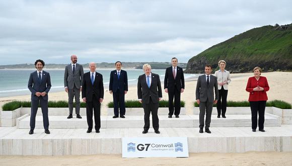 """El G7 propuso aplicar nuevas normativas a las empresas """"más grandes y rentables"""", pero eso ha generado preocupaciones de que Amazon.Com Inc. no sea incluido debido a sus escasos márgenes.  (Leon Neal / POOL / AFP)."""