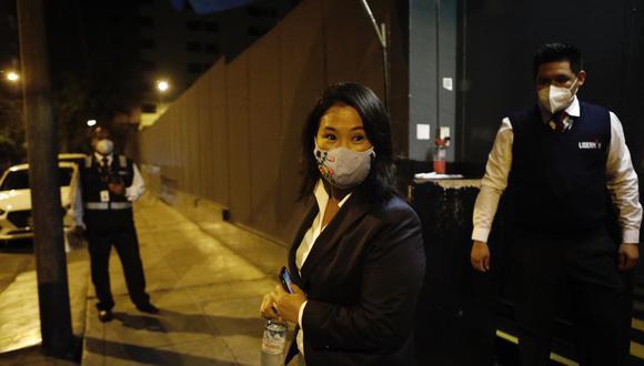 "Fujimori Higuchi cuestionó que se busque equipararla a Rafael López Aliaga e indicó que su partido político, Fuerza Popular, es de ""centro derecha"". (Foto: Joel Alonzo/ @photo.gec)"