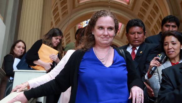 Claudia Cooper también fue autorizada para viajar a Buenos Aires, Argentina, para participar el 19 de marzo de una reunión privada de ministros de finanzas, en el marco de la Primera Reunión Ministerial de Finanzas y Bancos Central del G20 (Foto: Andina).