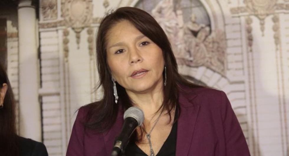 La ex ministra Paola Bustamante, cuando presidía la cartera de Desarrollo e Inclusión Social. (Foto: GEC)