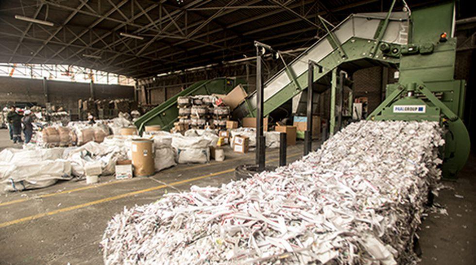 Máquinas utilizadas por El Destructor de Papeles para triturar hasta diez toneladas de papel por hora.