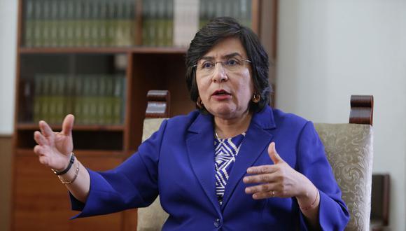 La presidenta del TC, Marianella Ledesma, reconoció la disposición de los magistrados para realizar el pleno virtual. (Foto: GEC)
