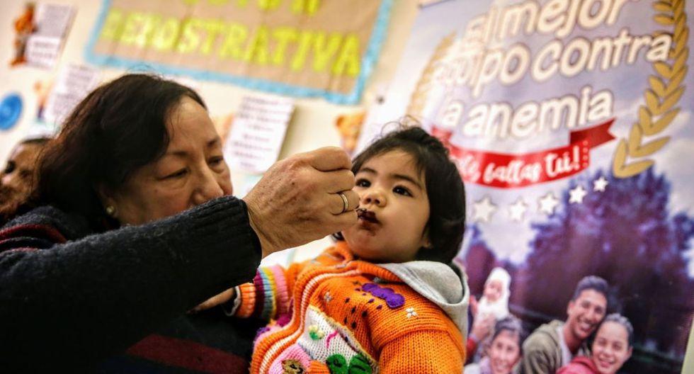 índice de anemia en el Perú es de 43,5%. Gustavo Russel, viceministro de Salud Pública del Minsa, informó que dicho porcentaje no ha disminuido desde hace cuatro años. (GEC)
