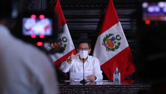 El mandatario Martín Vizcarra envió una carta a la fiscal de la Nación expresando su disposición a rendir su manifestación. (Foto: Presidencia)
