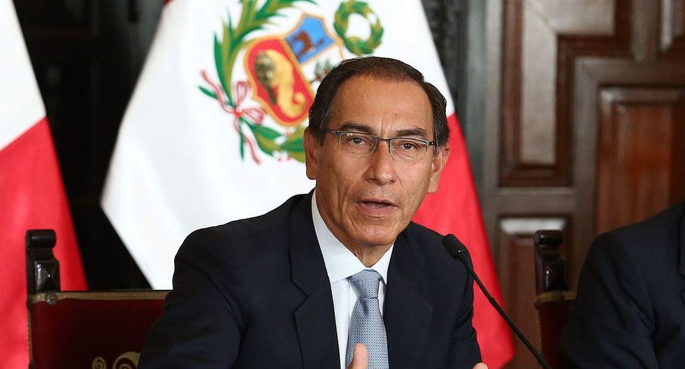 El presidente Martín Vizcarra participó en la juramentación de la fiscal de la Nación, Zoraida Ávalos. (Foto: GEC)