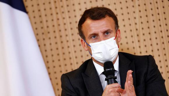 """""""En la actualidad el 100% de las vacunas producidas en Estados Unidos es para el mercado estadounidense"""", dijo Emmanuel Macron.  REUTERS/Christian Hartmann/Pool"""