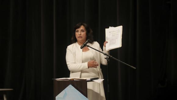 Dina Boluarte postula en la plancha presidencial de Perú Libre en las Elecciones 2021. (Foto: GEC)