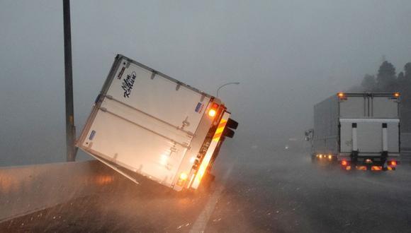 Tifón en Tokio (Foto: AFP)