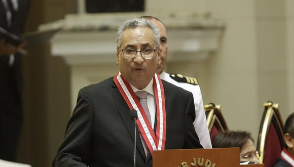 El presidente del Poder Judicial, José Luis Lecaros, indicó que la Corte Suprema debería evaluar la inmunidad de parlamentarios y funcionarios públicos. (Foto: GEC)