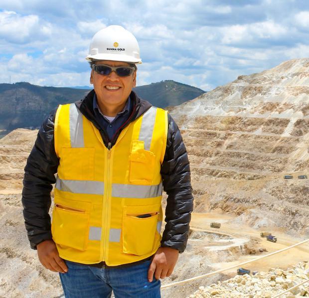 Jaime Polar Paredes, gerente general de Summa Gold, una empresa que produce 80.000 onzas de oro anualmente.
