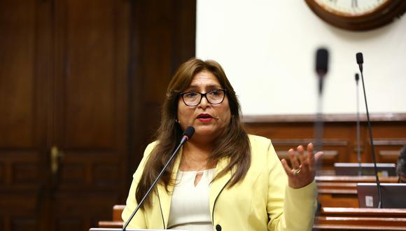 La congresista Betty Ananculi es investigada por presuntamente haber colocado información falsa en su hoja de vida. (Foto: Congreso de la República)