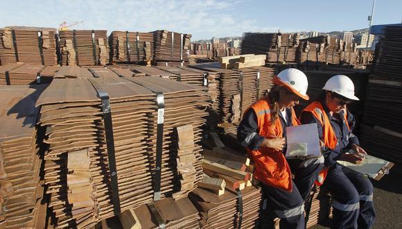 El precio del cobre bajaba por cuarta jornada consecutiva este martes. (Foto: AFP)