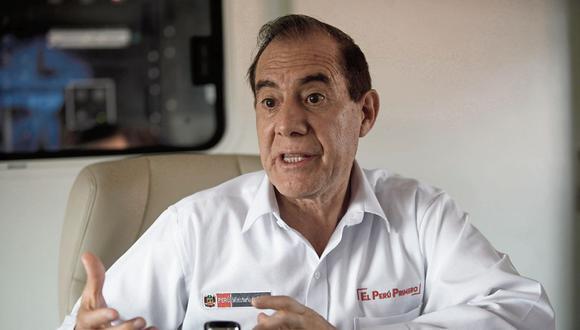(Foto: GEC)  ENTREVISTA- MINISTRO DE DEFENSA WALTER MARTOS RUIZ, ENCARGADO  EN VER A LOS DAMNIFICADOS DE VILLA EL SALVADOR.   FOTO: JOEL ALONZO/GEC