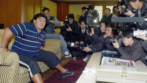 Maradona buscaba cerrar varios negocios en China. (Foto: AFP)