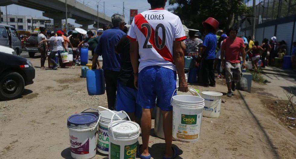 20 distritos de Lima y Callao quedarán sin servicio de agua desde hoy (Foto: GEC)
