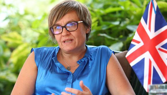 Imagen de la representante británica en el país, Kate Harrisson. (Foto: Alessandro Currarino / GEC).