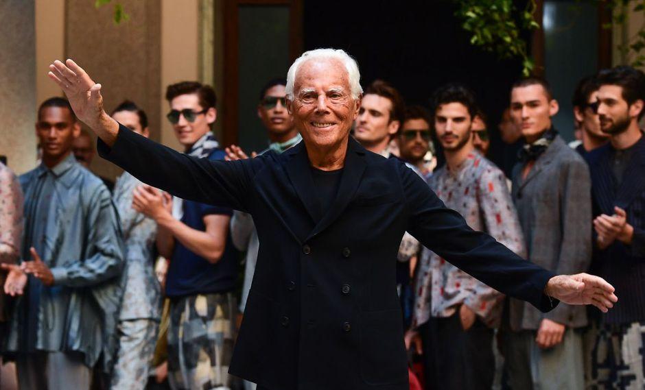 Giorgio Armani. A sus 85 años sigue al frente de la compañía que fundó en 1978. (Foto: AFP)
