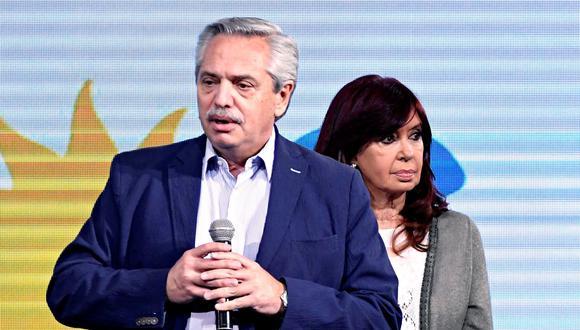 El presidente de Argentina, Alberto Fernández, junto a la vicepresidenta Cristina Fernández. (Foto: La Nación de Argentina, GDA).