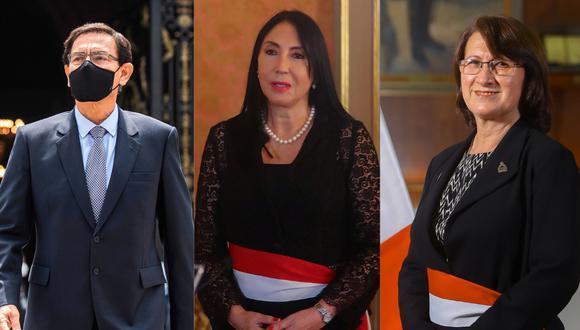 Martín Vizcarra y Pilar Mazzetti, además de Elizabeth Astete, afrontan varias denuncias constitucionales en el Congreso.