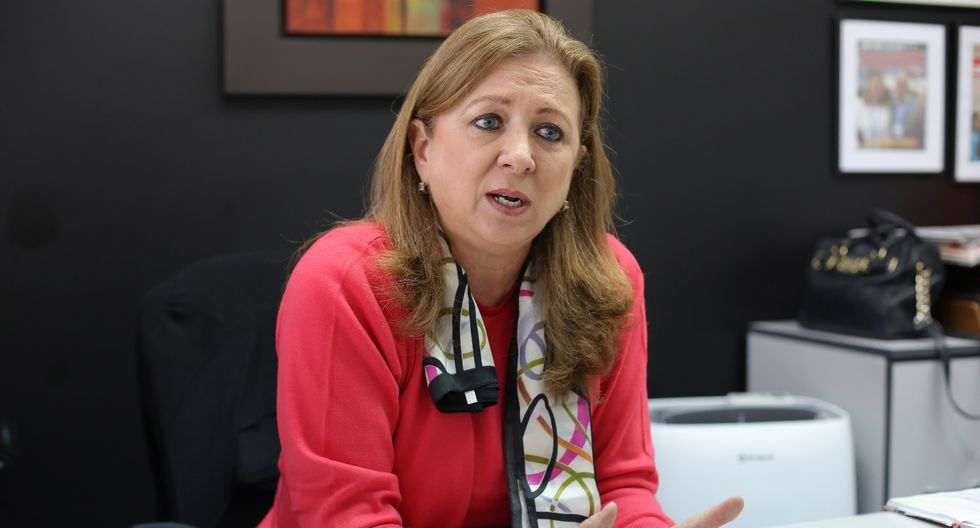 La presidenta de Confiep, María Isabel León.