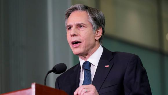 FILE PHOTO: U.S. Secretary of State Antony Blinken speaks about infrastructure investment at the University of Maryland's A. James Clark School of Engineering in College Park, MD, U.S., August 9, 2021. Patrick Semansky/Pool via REUTERS/File Photo