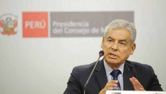 César Villanueva hizo un balance de su gestión y dijo que su salida fue acordada con Vizcarra. (Foto: PCM)