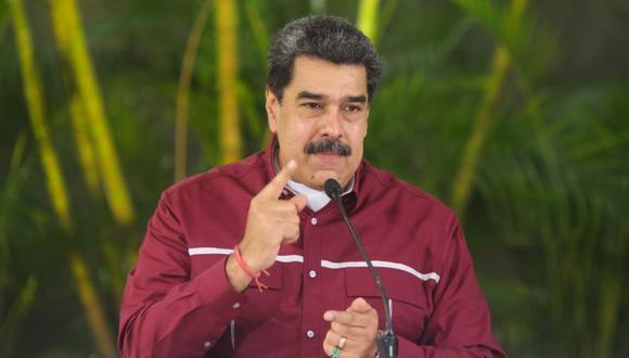 Fotografía cedida por prensa de Miraflores donde se observa al mandatario venezolano, Nicolás Maduro, en un acto de Gobierno en Caracas. (EFE/PRENSA MIRAFLORES).