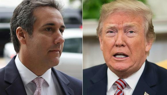 Las oficinas de Michael Cohen (izquierda), abogado personal de Donald Trump, fueron allanadas por agentes federales. (Foto: AFP)
