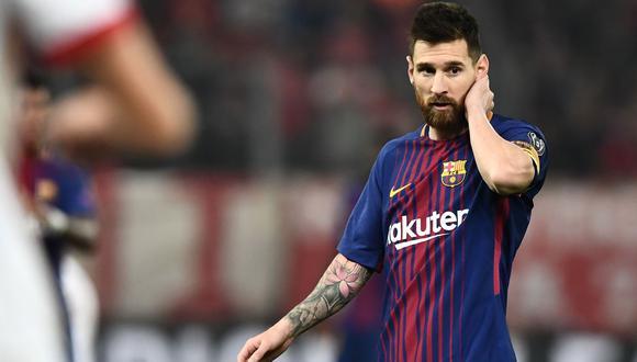 Lionel Messi tiene una clausula en el contrato con Barcelona que puede activarlo al final de cada temporada. (Foto: AFP)