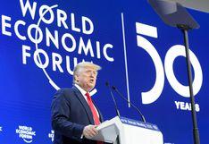 Trump alardea del poder económico de EE.UU. y minimiza el pesimismo por crisis del clima