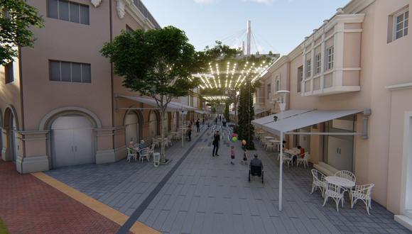 Boulevard San Ramón, mal llamado calle Las Pizzas. (Foto: Difusión | Municipalidad de MIraflores )