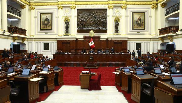 Los legisladores Pedro Olaechea, Nelly Cuadros, Julio Rosas, Sonia Echevarría y Marita Herrera solicitaron inscripción como nueva bancada. (Foto: Congreso)