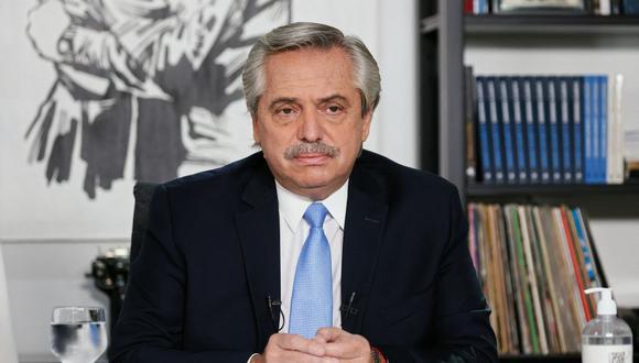 El presidente de Argentina, Alberto Fernández. (Foto: AFP).
