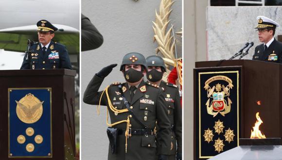 Revisa la hoja de vida de los nuevos comandantes generales del Ejército, la Marina y la Fuerza Aérea. Foto: composición/Mindef