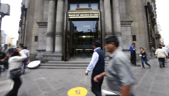 El indicador S&P/BVL Perú General, el más representativo de la bolsa, subía un 0.33%. (Foto: GEC)