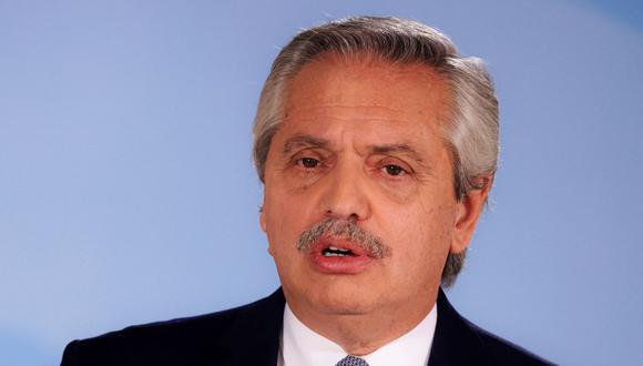 El presidente de Argentina Alberto Fernández. (Foto: AFP).